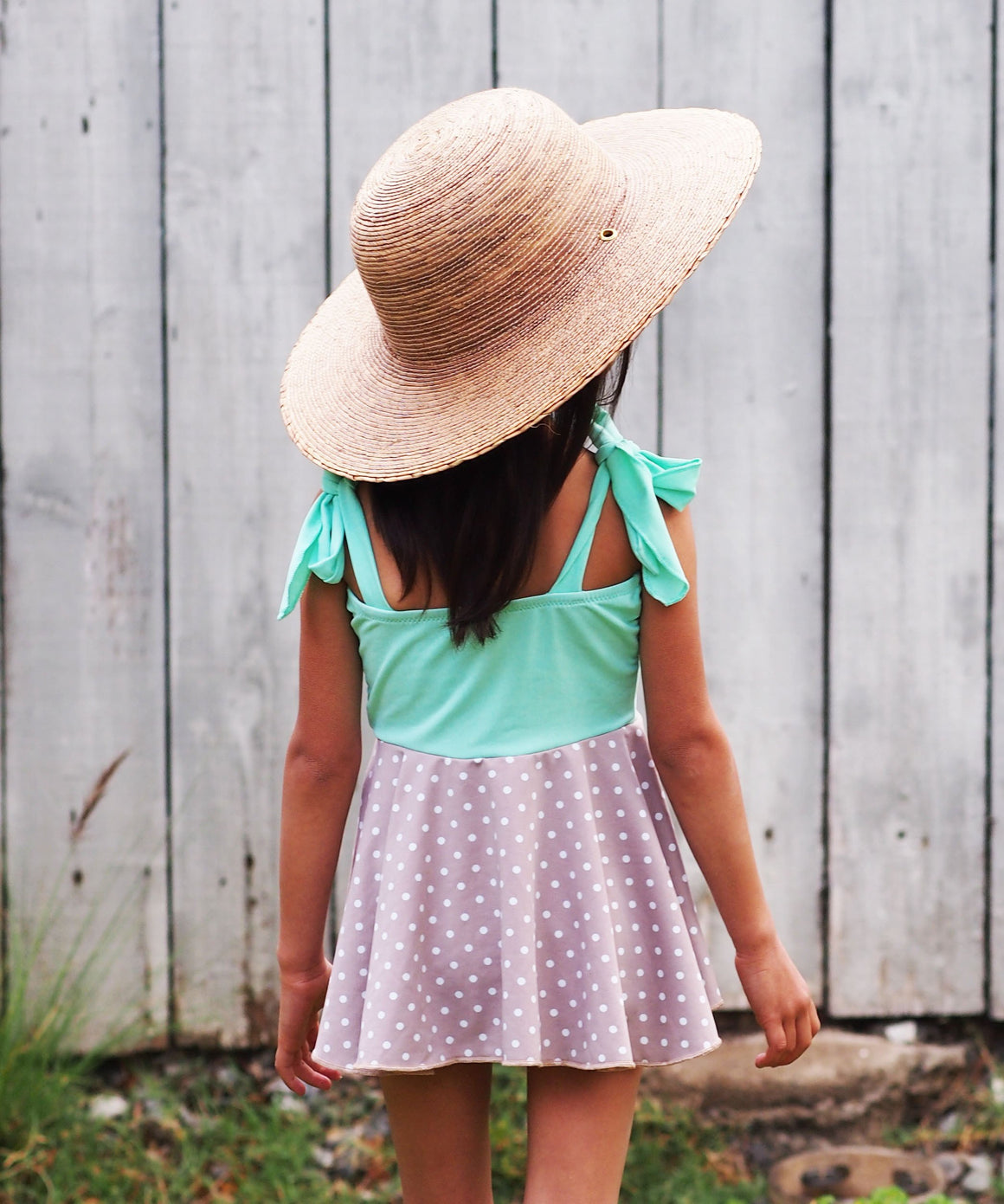 children's wide brim beach hat