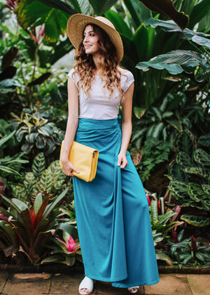 the florence skirt in monaco blue
