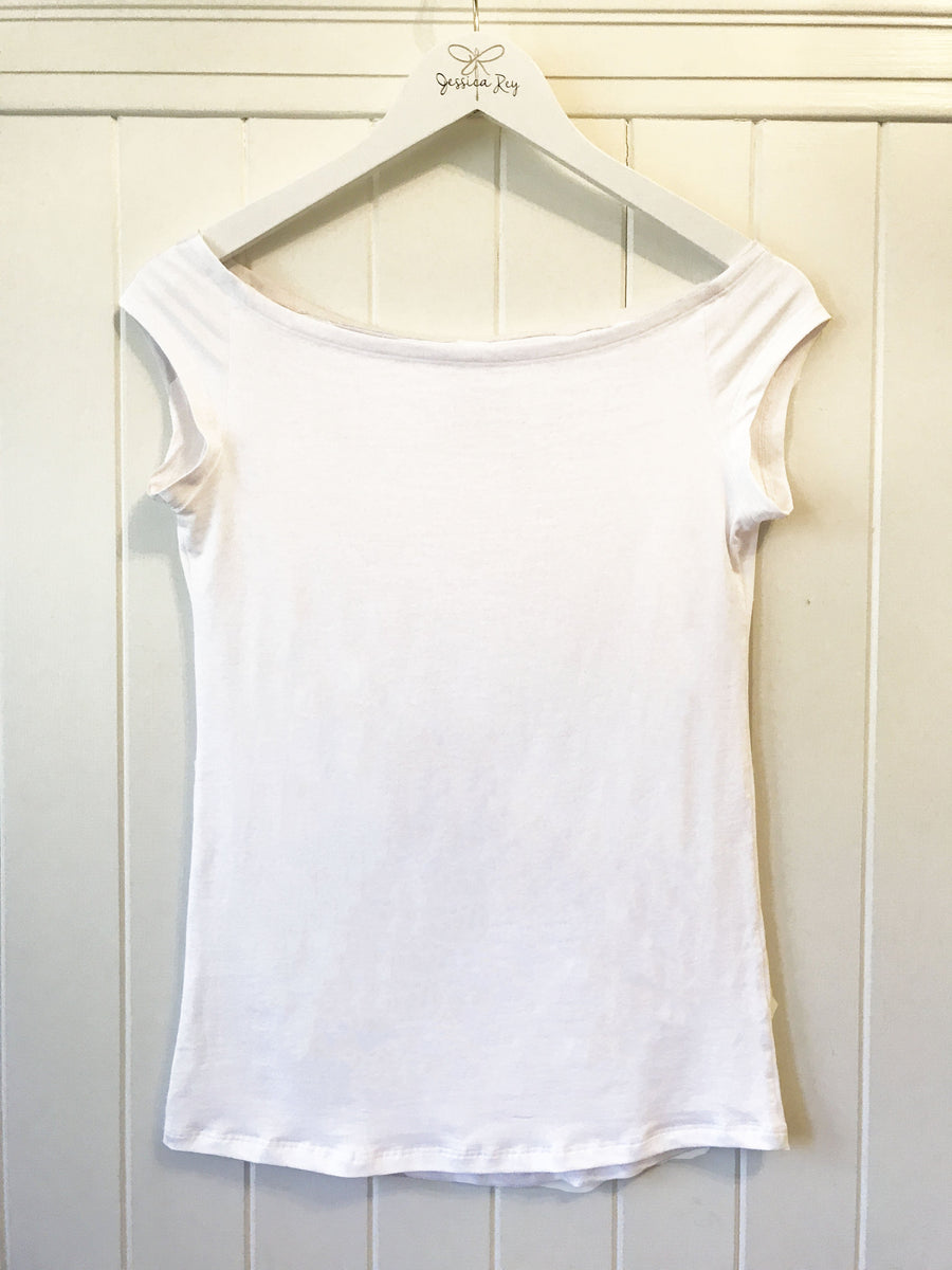 the positano tee in white