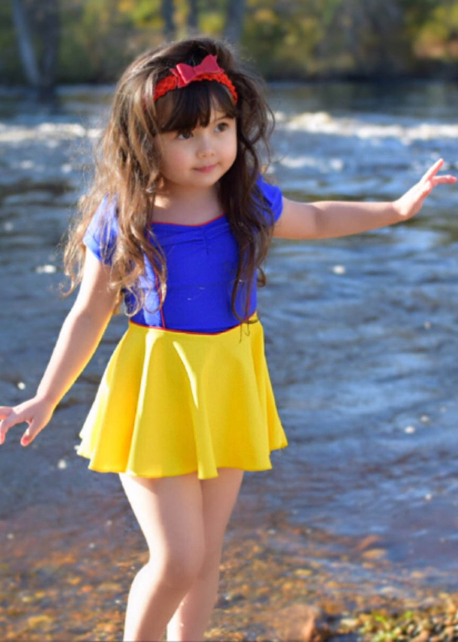 princess swim dress in multi