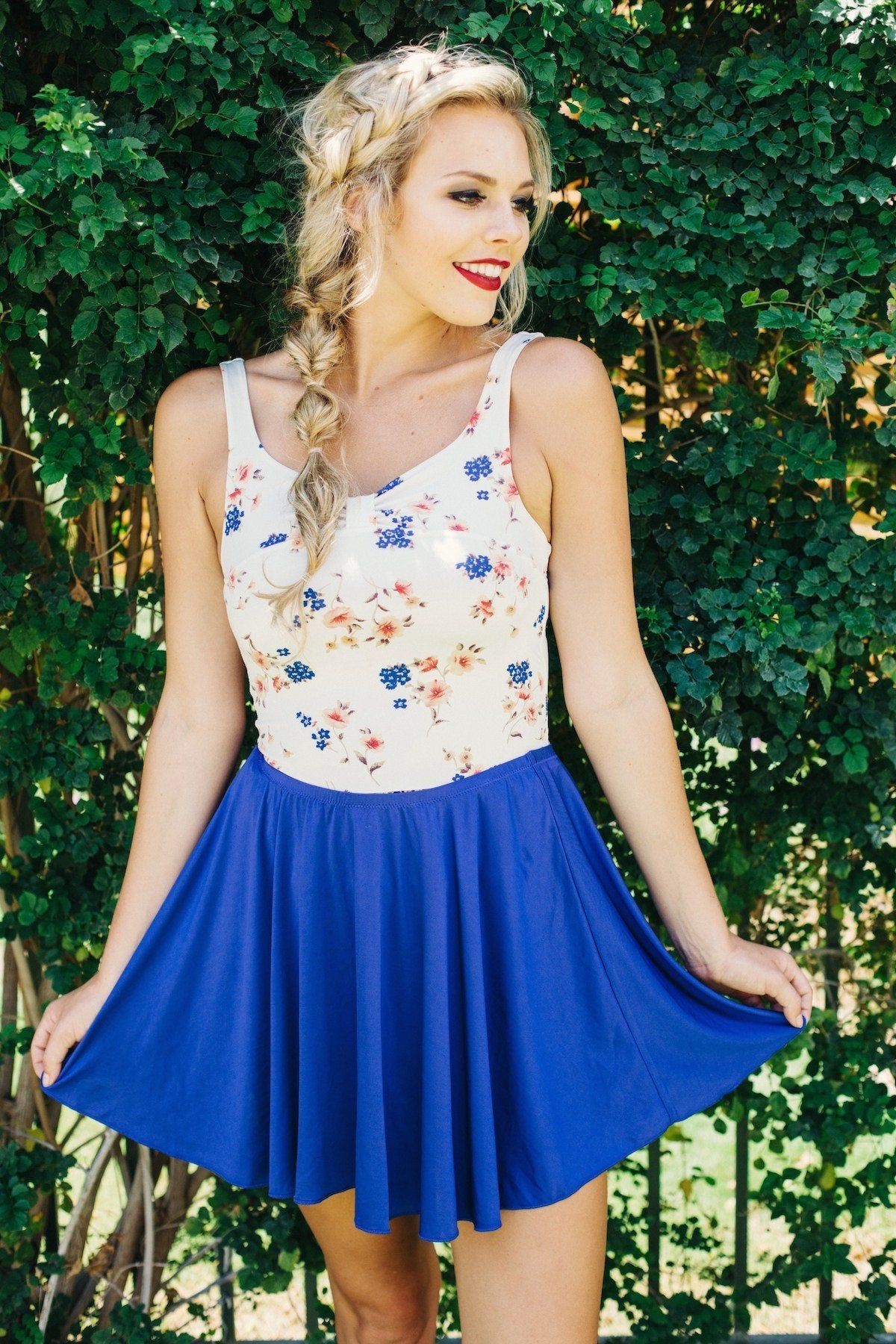 skirt in blueberry