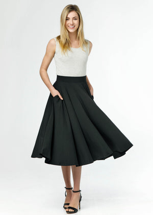 the siena skirt in black