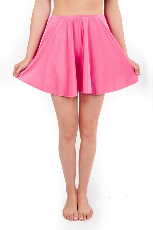 skirt in cerise