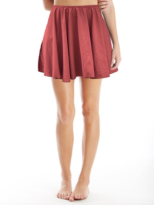 skirt in cinnamon