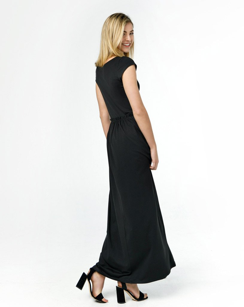 the verona dress in black