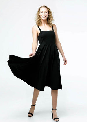 the rome dress in black