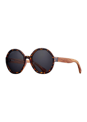 donna sunglasses in brown tortoise