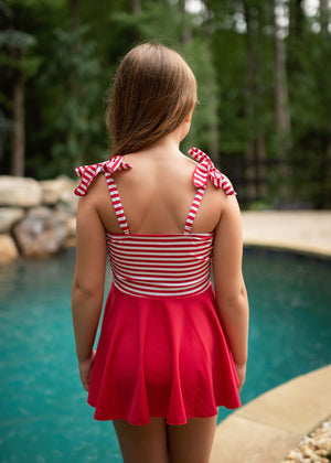 eloise in red/white stripe