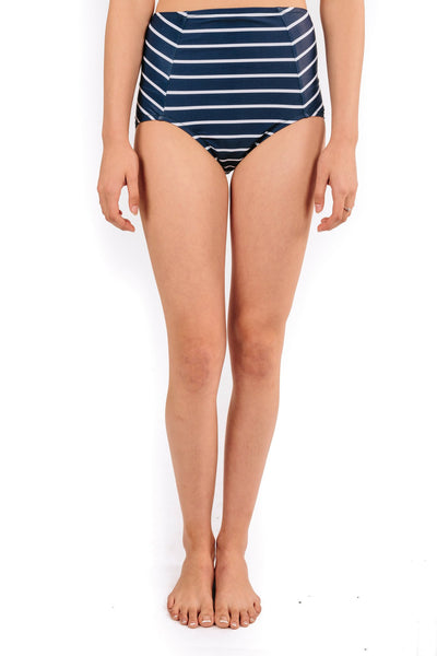 high waist in sailor stripe