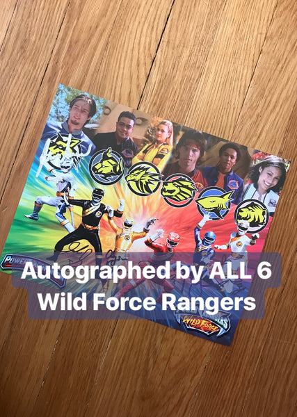 Exclusive Autographed Wild Force Photo
