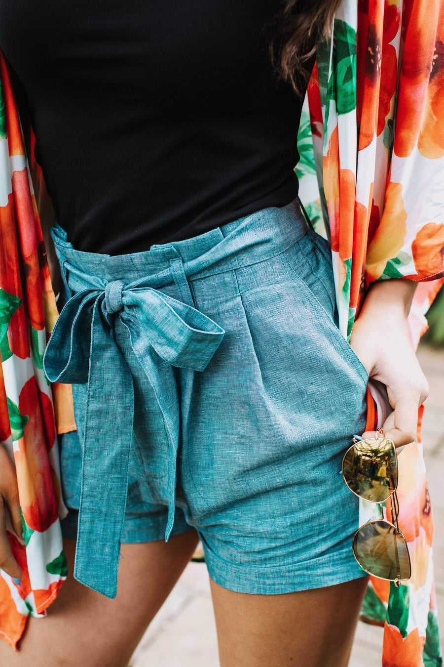 Shorts in Chambray