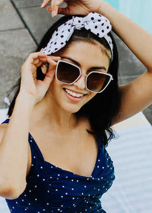 laina sunglasses in white