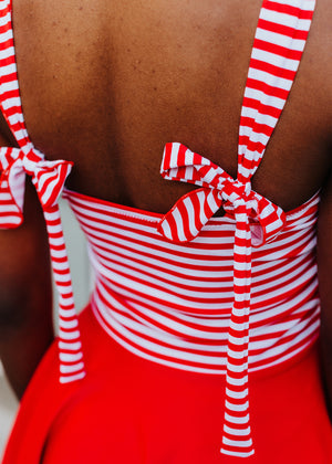 marie in red/white stripe