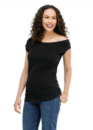the positano tee in black