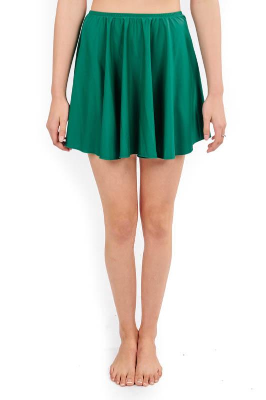 skirt in emerald