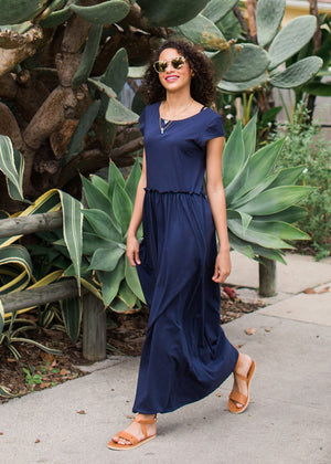 the verona dress in navy