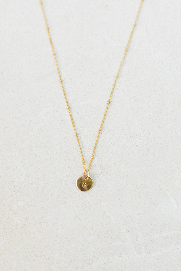 TRINKET INITIAL NECKLACE