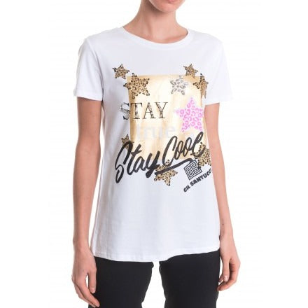 Graffitti Gold White T-shirt - Eurockk.com