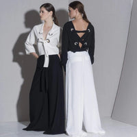 Soft and Flowy Belted Pants - Eurockk.com