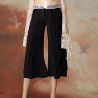 Pleated Crop Pant - Pantacourt - Eurockk.com