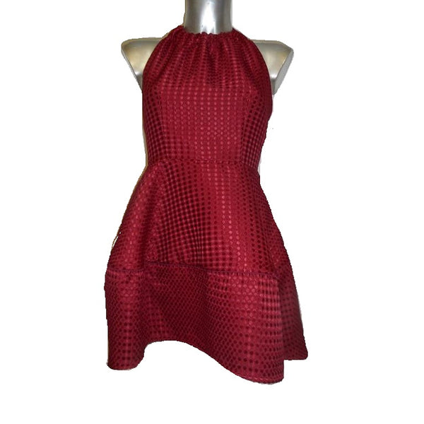 Backless Red Cocktail Dress - Eurockk.com