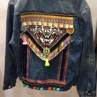 Tribal Back Jeans Jacket - Eurockk.com