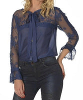 Dawn Black Lace Shirt - Eurockk.com