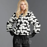 Black and White Faux Fur Jacket - Eurockk.com