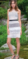 Broderie Lace  White Dress - Eurockk.com
