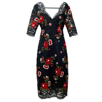 Lace and Roses Tapestry Dress - Eurockk.com