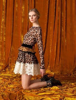 Lace Leopard Cocktail Dress - Eurockk.com