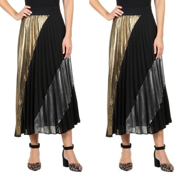 Pleated in Gold and Silver