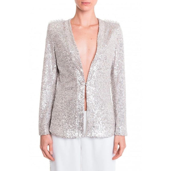 Sequinned Silver Jacket - Eurockk.com