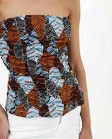 Autumn Leaves Bustier Top - Eurockk.com