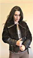 Coated Fur Leather Jacket - Eurockk.com