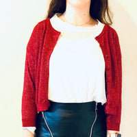 Bordeaux Red Sparkles Jacket - Eurockk.com