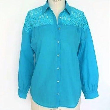 Fuego Blue Lace Top - Eurockk.com