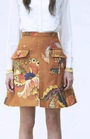 A-lab Printed Tweed Skirt - Eurockk.com