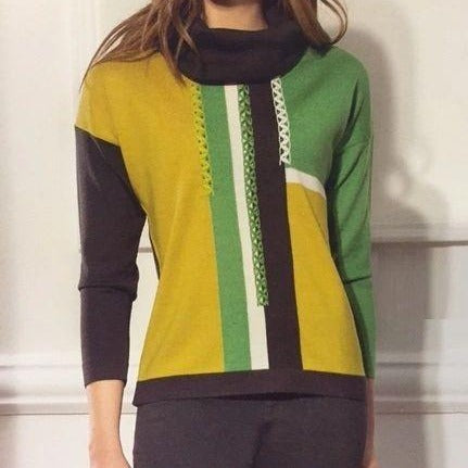Wool Sunny Green Sweater Made in ITALY - Eurockk.com