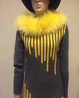 Yellow Fur Collar - Eurockk.com