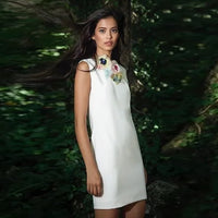 Flowerly Tulle White Dress - Eurockk.com
