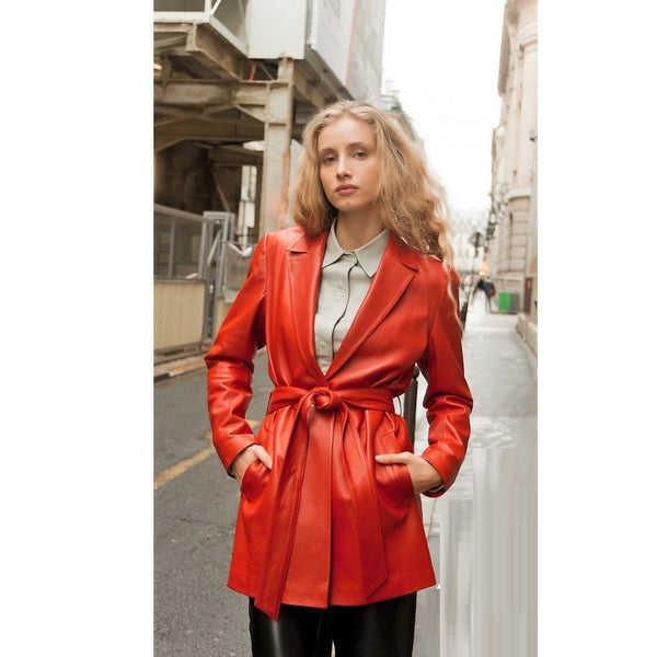 Lipstick Red Leather Jacket - Eurockk.com
