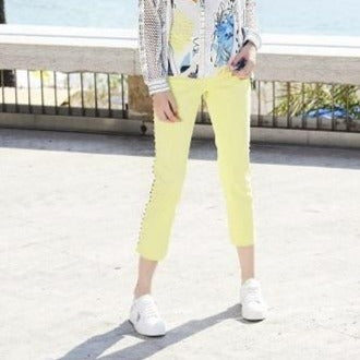 Gretta Studded Lime or White Jeans - Eurockk.com
