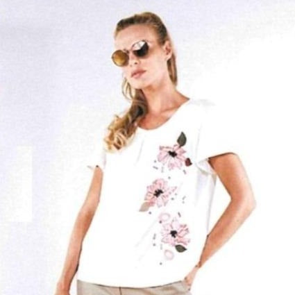 Sequinned Pink Florals Top - Eurockk.com