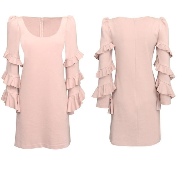 Darling Ruffle Pink Dress - Eurockk.com