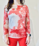 Luxe Coral Sequinned Evening Top - Eurockk.com