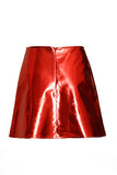 Metallic Leather Skirt - Eurockk.com