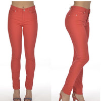 Red Stretch Jeans - Eurockk.com