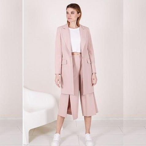 Long Blush Blazer - Eurockk.com