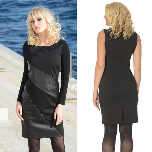 Black Bodycon Cocktail Dress - Eurockk.com